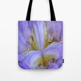 Purple Iris in Pencil Sketch 0174 Tote Bag
