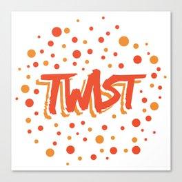 Twist N.18 Modele Rond Canvas Print