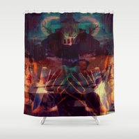 scary Shower Curtains featuring Scary by WDeluxe