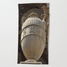 Decorative Urn - Palace Of Fine Arts SF Beach Towel