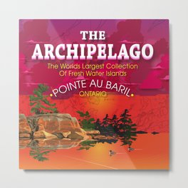 The Archipelago with Type Metal Print