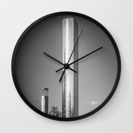 Water Tower Sculpture Cardiff Bay Roald Dahl Plass Black and White Welsh Landmark Wall Clock