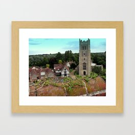 Church and Guildhall, Eye, UK Framed Art Print