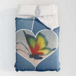 Butterfly Love - Blue Comforters