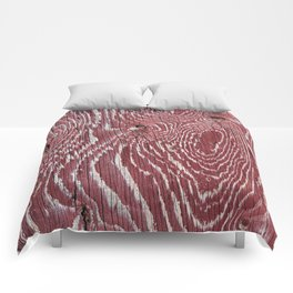 Red Painted Plywood Comforters