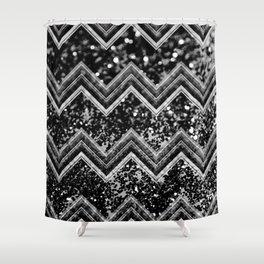 black and white chevron shower curtain. Black Night Glitter Chevron  1 shiny decor art society6 Shower Curtain Curtains Society6