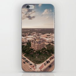 Denton, TX Square and Courthouse iPhone Skin