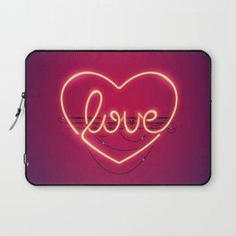Love Heart Neon Sign Laptop Sleeve