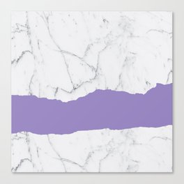Elegant violet gray white modern marble pattern Canvas Print