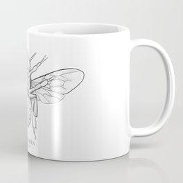 Honeybee Line Drawing Coffee Mug