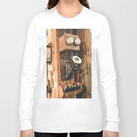 telephone Long Sleeve T-shirts featuring Telephone by Imaginatio