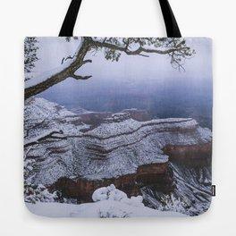 Snowy Grand Canyon Mesa Tote Bag