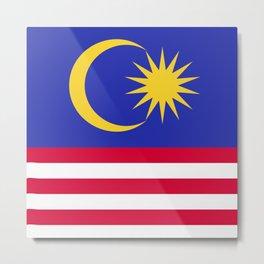 Malaysia flag emblem Metal Print