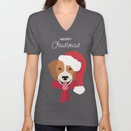 Beagle Christmas Dog Unisex V-Neck