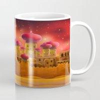 aladdin Mugs featuring Aladdin castle by Tatyana Adzhaliyska