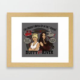 Buffy vs River Framed Art Print
