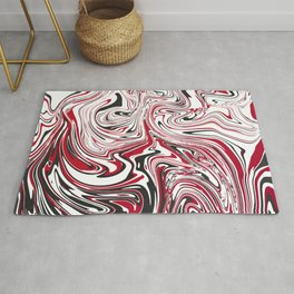 Black & Red Topography Rug