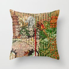 The Interlocking Mechanism of Compartmentalization Throw Pillow
