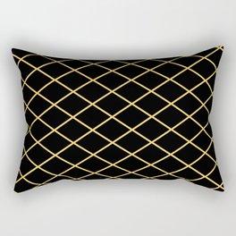 Diamond Lines - Gold Rectangular Pillow
