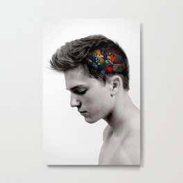 In My Head Metal Print