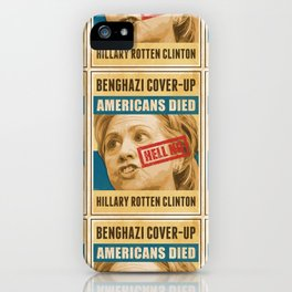 Hell No Hillary iPhone Case