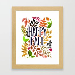 Happy Fall Framed Art Print