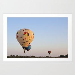 Three Colorful Hot Air Balloon Art Print