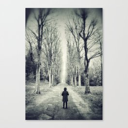 Girl alone in the street Canvas Print