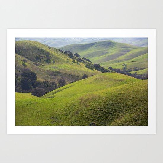 Diablo Hills Art Print