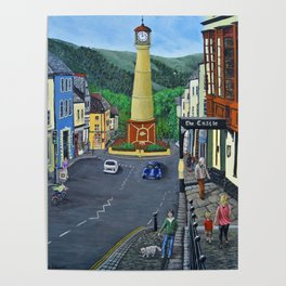 Tredegar Town Clock Poster