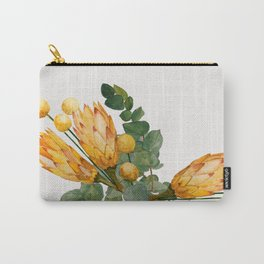 Protea and Billy Flowers Carry-All Pouch