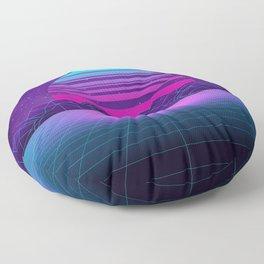 Future Sunset Vaporwave Aesthetic Floor Pillow