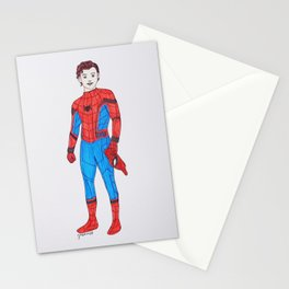 Tom Holland as Peter Parker Stationery Cards