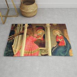 """Fra Angelico (Guido di Pietro) """"Annunciation of Cortona"""" Rug"""