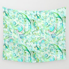 Mermaid Pattern 05 Wall Tapestry