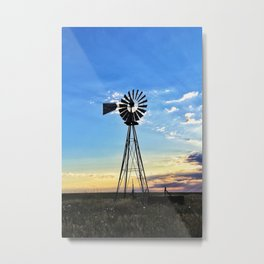 Windmill, Vintage Metal Print