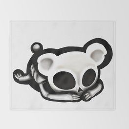 Skeleton bear Throw Blanket