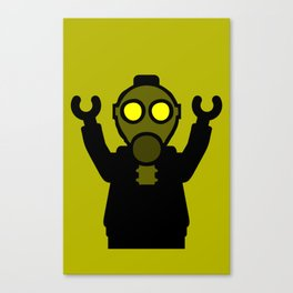 Apocalyse Minifigure wearing Gasmask by Customize My Minifig Canvas Print