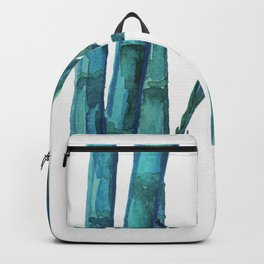 Bamboo Watercolor - Blue Palette Art Print Backpack