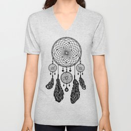 Dreamcatcher (Black & White) Unisex V-Neck