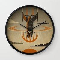 return Wall Clocks featuring The Return by Danny Haas
