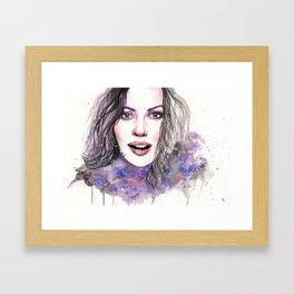 Lost in the Immensity of Cosmos Framed Art Print