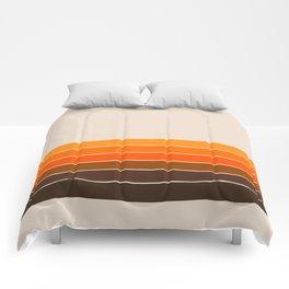 Golden Spring Stripes Comforters