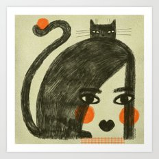 ORANGE CHEEKS Art Print