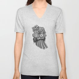 Day of the Dead Princess Unisex V-Neck