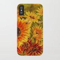sunflowers iPhone & iPod Cases featuring SUNFLOWERS by Vargamari