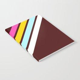 80's Style Retro Stripes Notebook