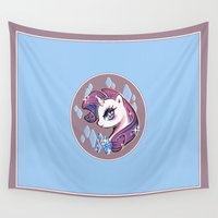 my little pony Wall Tapestries featuring My Little Pony: Rarity by Zelbunnii