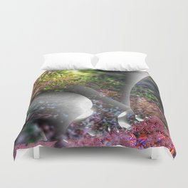 Plants of a fantasy forest Duvet Cover