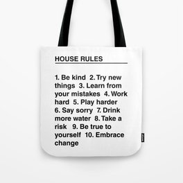 House Rules Tote Bag